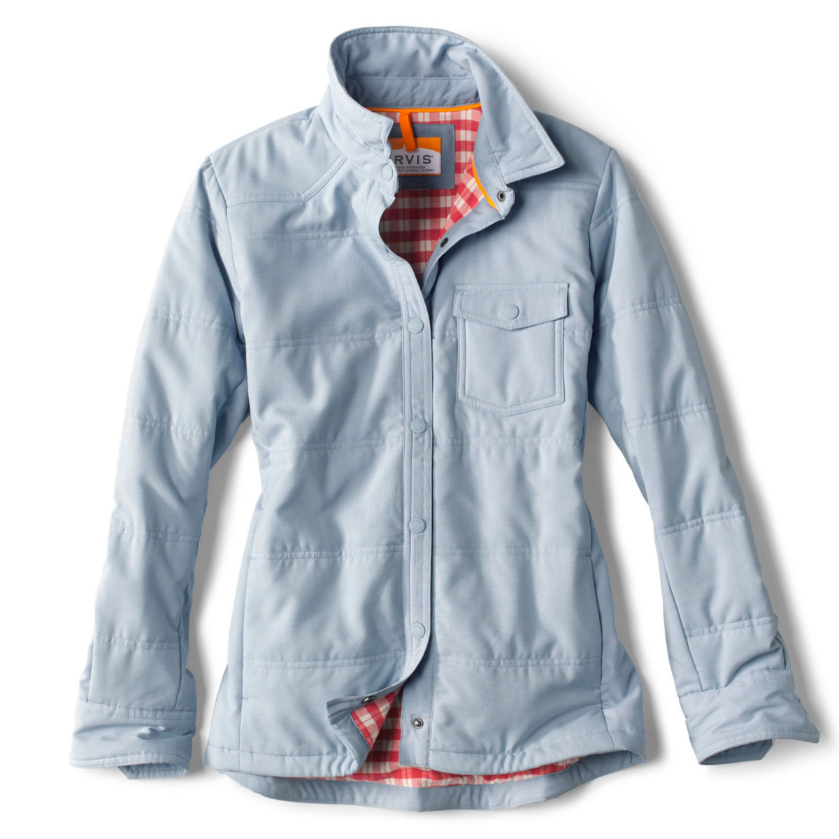 Women's Tech Chambray Shirt Jacket - BLUE FOGimage number 0