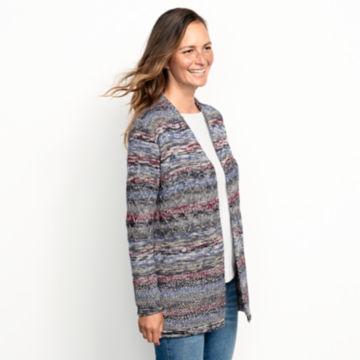 Alpaca-Blend Blanket Cardigan Sweater - BLUE MULTI image number 2
