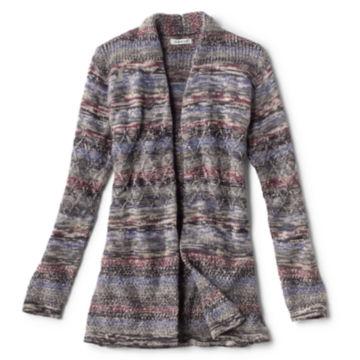 Alpaca-Blend Blanket Cardigan Sweater - BLUE MULTI image number 0