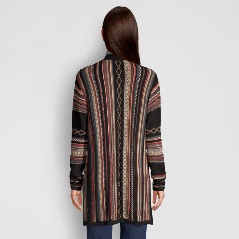 Blanket-Stripe Cardigan Sweater - MULTI STRIPE image number 3