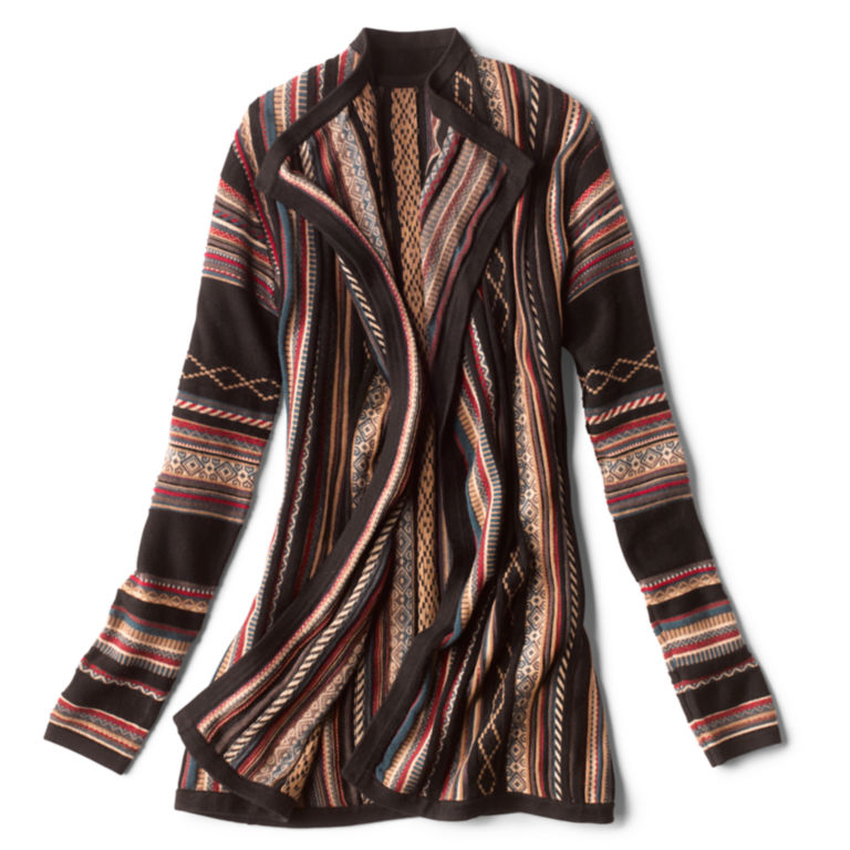 Blanket-Stripe Cardigan Sweater - MULTI STRIPE image number 0