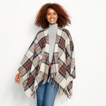Lambswool Plaid Wrap -