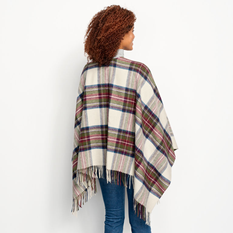Lambswool Plaid Wrap - RED/GREEN PLAID image number 3