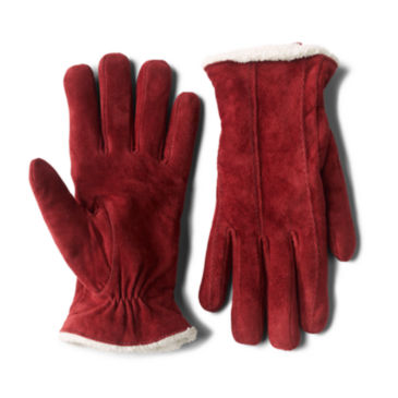 Suede Sherpa-Lined Gloves -