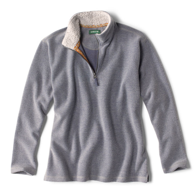 Mountain View Quarter-Zip Pullover - NAVY HEATHER image number 0