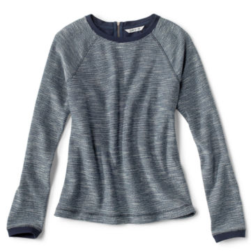 Crewneck Multi Terry Sweatshirt - BLUE MOON image number 0