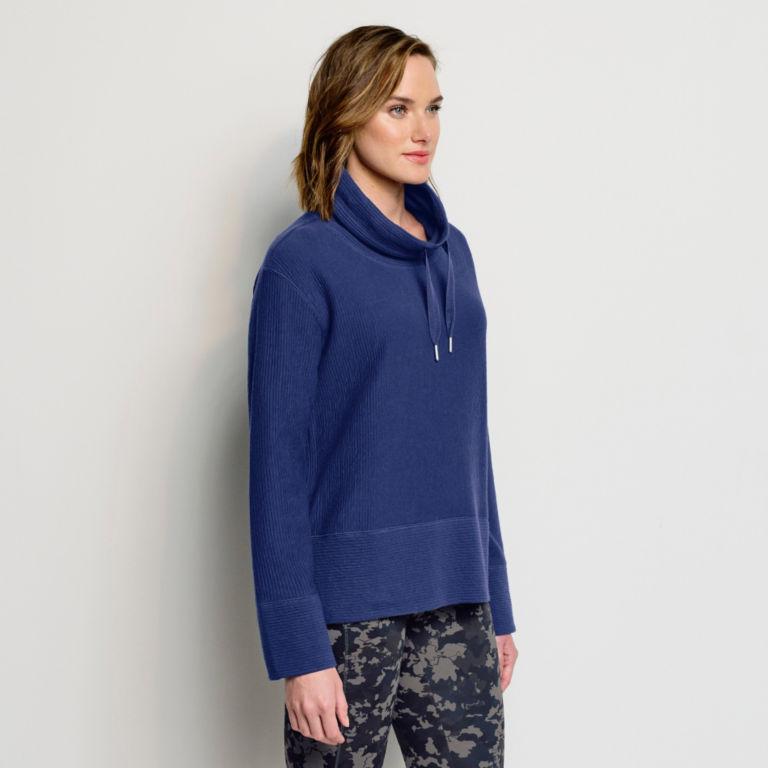 Textured Cowl Sweatshirt -  image number 1