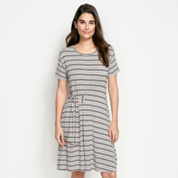 Wrap Knit Striped Dress -  image number 0