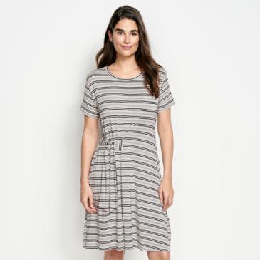 Wrap Knit Striped Dress -