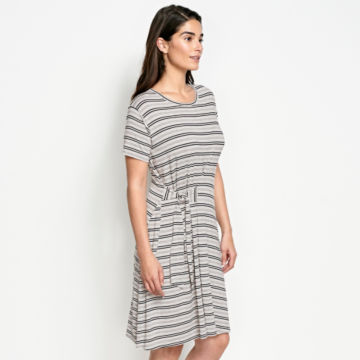 Wrap Knit Striped Dress -  image number 1