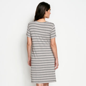 Wrap Knit Striped Dress -  image number 2