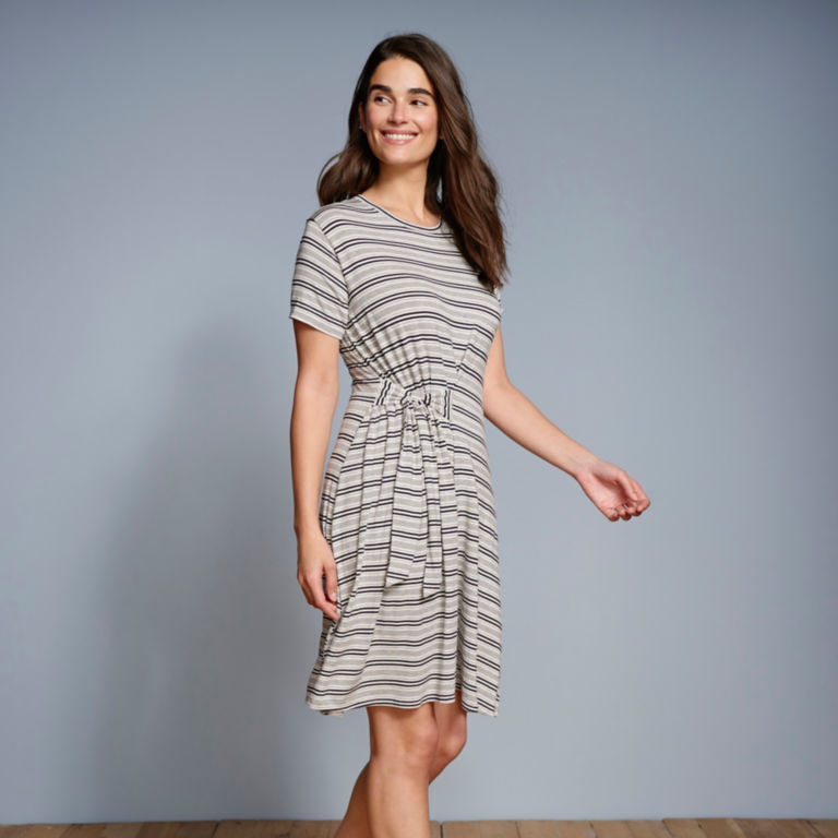 Wrap Knit Striped Dress -  image number 5