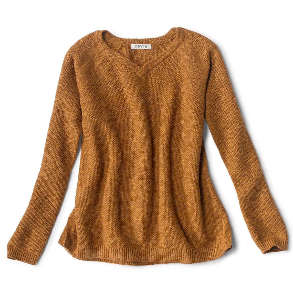 Easy V-Neck Sweater - DARK VICUNAimage number 0