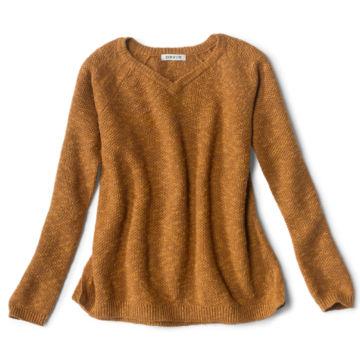 Easy V-Neck Sweater - DARK VICUNA image number 0