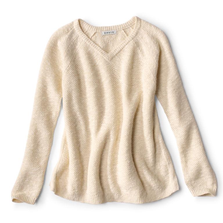 Easy V-Neck Sweater - SNOW image number 0