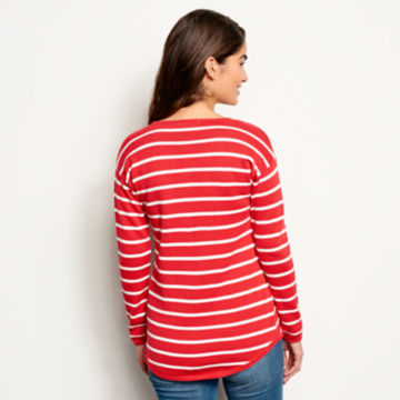 Cotton/Cashmere Striped Henley -  image number 2