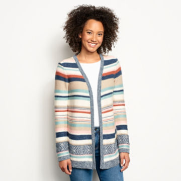 Faded Stripe Cardigan -  image number 0