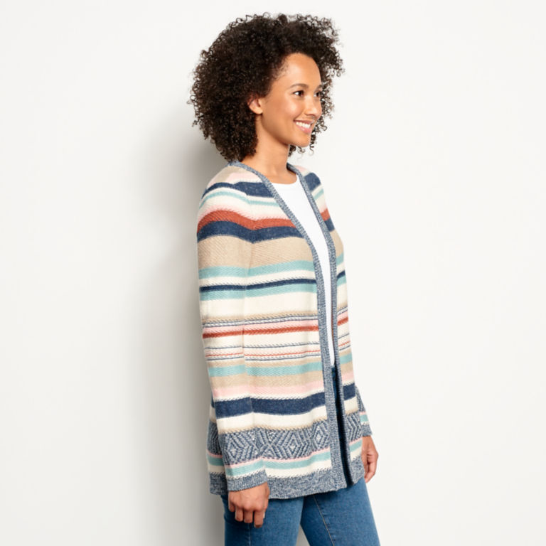 Faded Stripe Cardigan -  image number 1