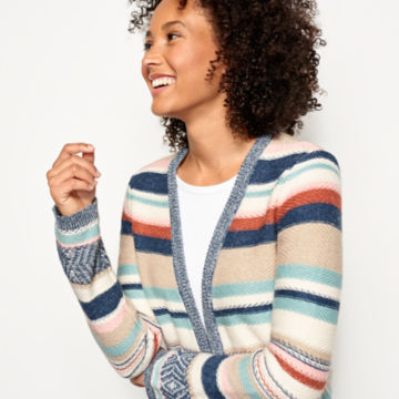 Faded Stripe Cardigan - image number 3