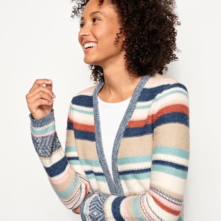 Faded Stripe Cardigan -  image number 3