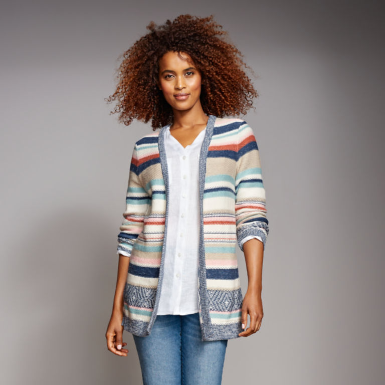 Faded Stripe Cardigan -  image number 5