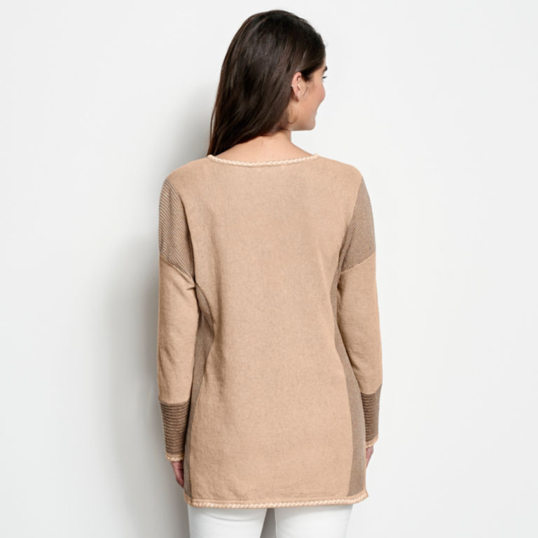 Pintucked Linen-Blend Sweater -  image number 2