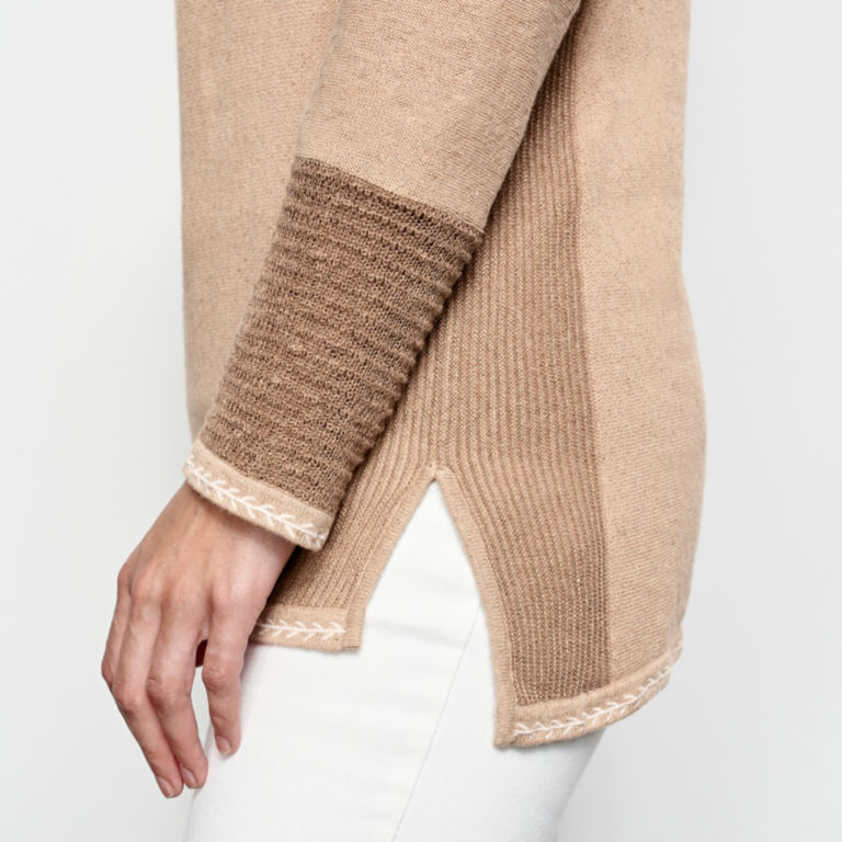 Pintucked Linen-Blend Sweater -  image number 4
