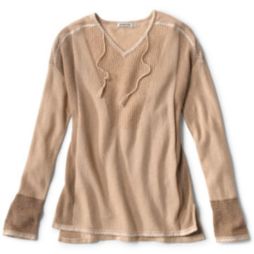 Pintucked Linen-Blend Sweater -  image number 5