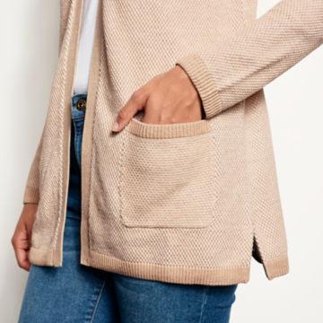 Waffle Knit Cotton/Cashmere Cardigan -  image number 3