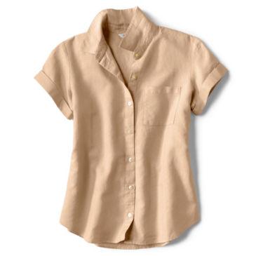 Linen/Cotton Garment-Dyed Short-Sleeved Shirt -