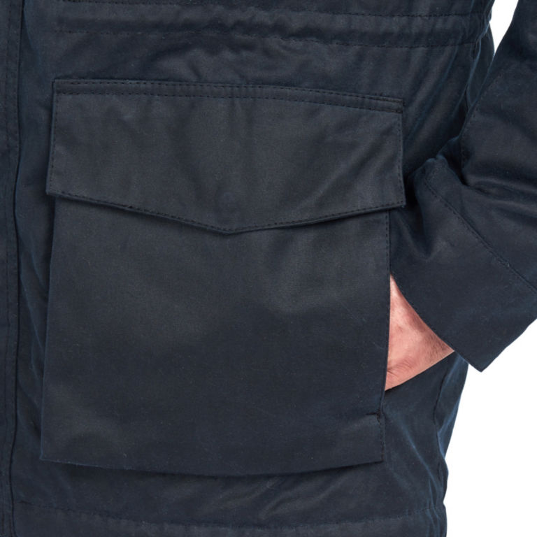 Barbour®  Ordel Wax Jacket - NAVY image number 4