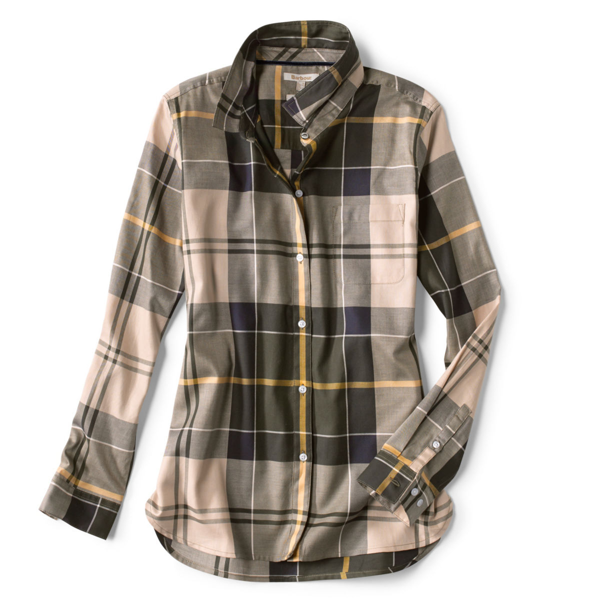 Orvis-Exclusive Barbour® Homeswood Shirt - OLIVE CHECKimage number 0