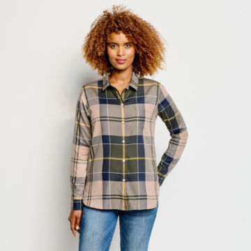 Orvis-Exclusive Barbour® Homeswood Shirt - OLIVE CHECK image number 1