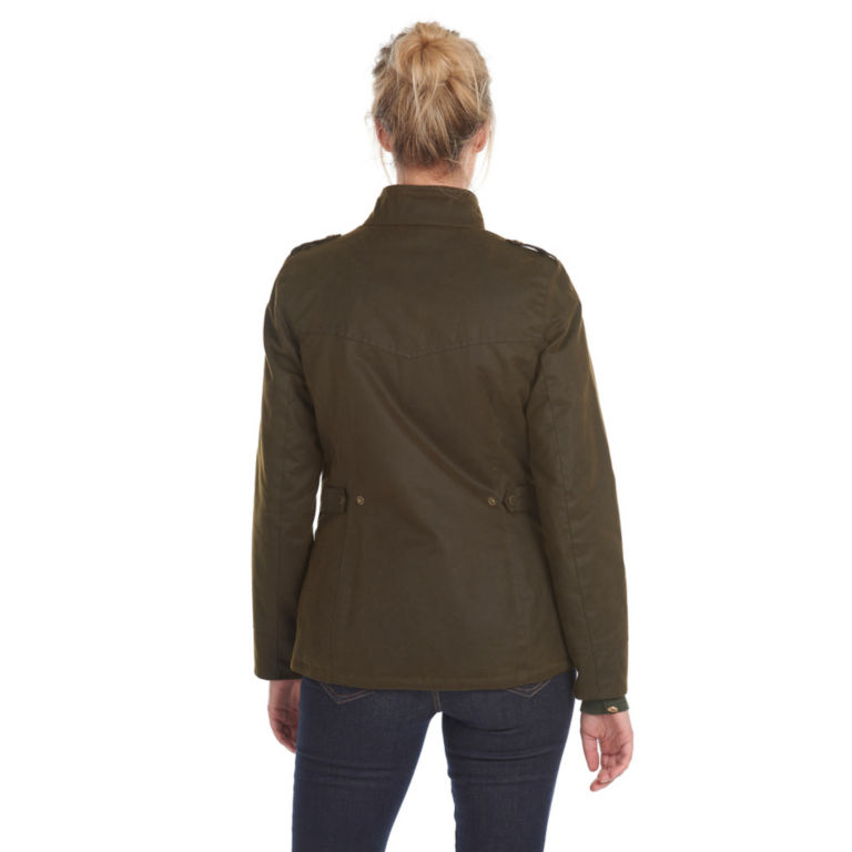 Barbour® Winter Defence Waxed Cotton Jacket - OLIVE image number 2