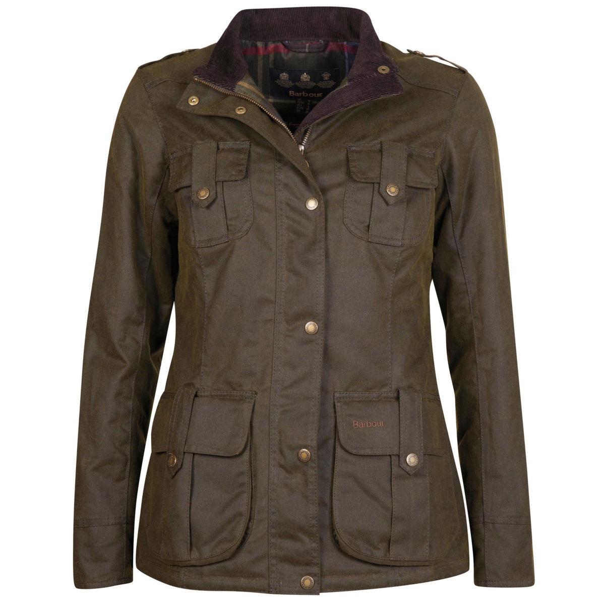 Barbour® Winter Defence Waxed Cotton Jacket - OLIVEimage number 0