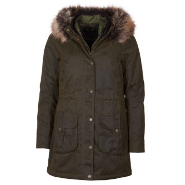 Barbour® Homeswood Wax Jacket - OLIVE image number 0