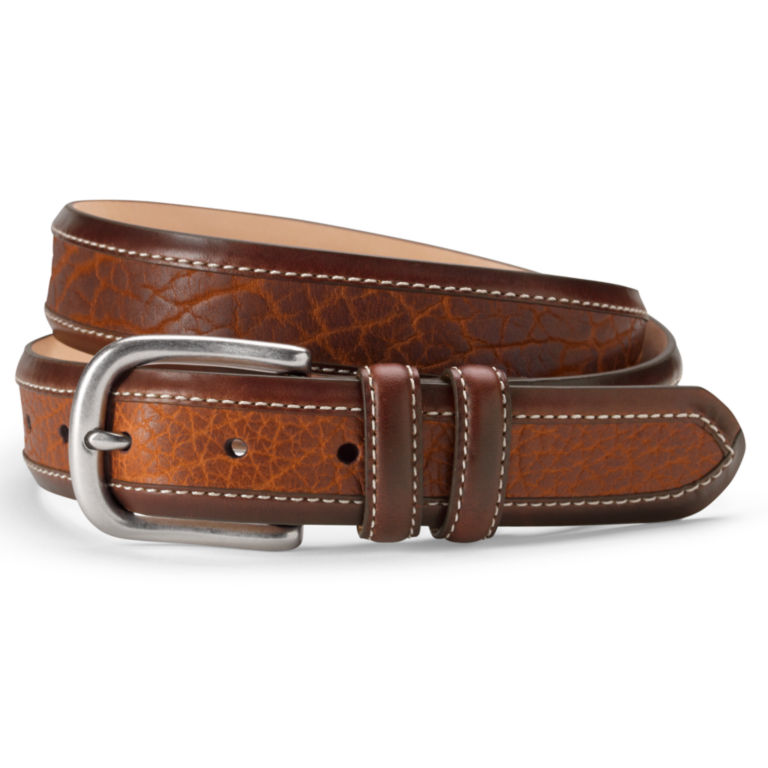 Bison Inlay Belt - BROWN image number 0