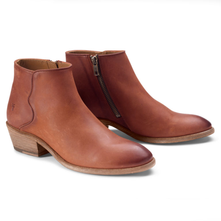 Frye® Carson Piping Booties - COGNAC image number 0