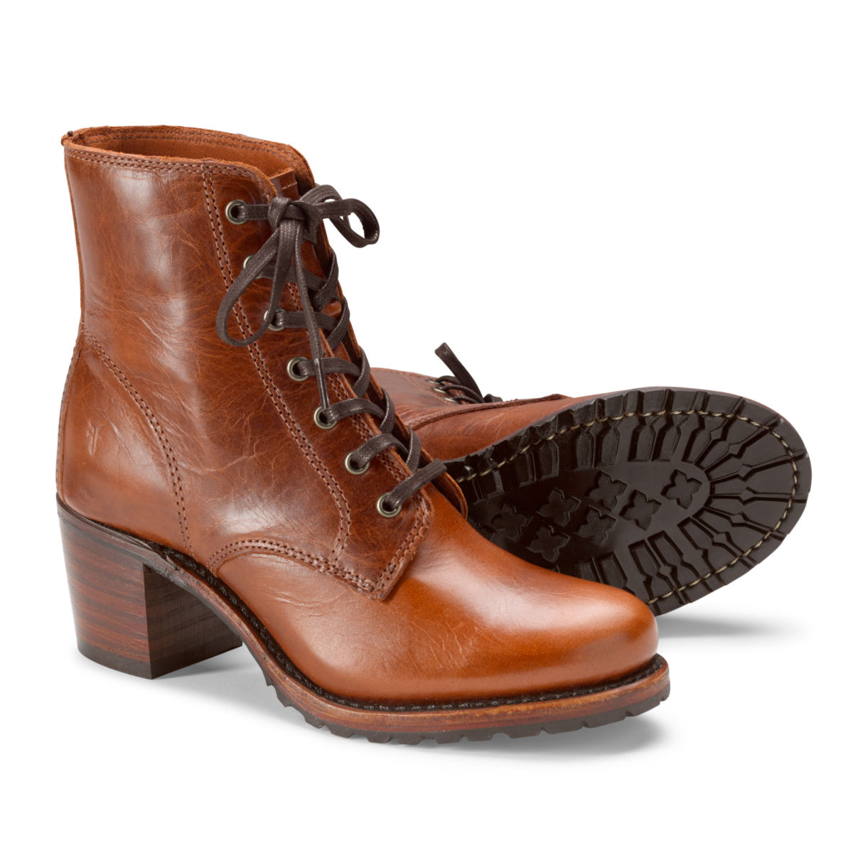 Frye®  Sabrina 6G Lace-Up Boots - COGNACimage number 0