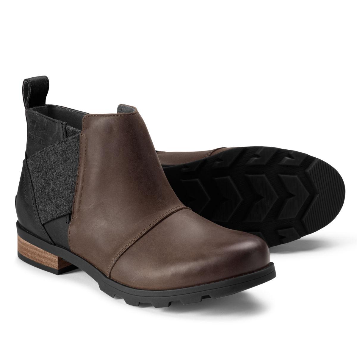 Sorel® Emelie™ Waterproof Chelsea Boots - BLACKENED BROWNimage number 0