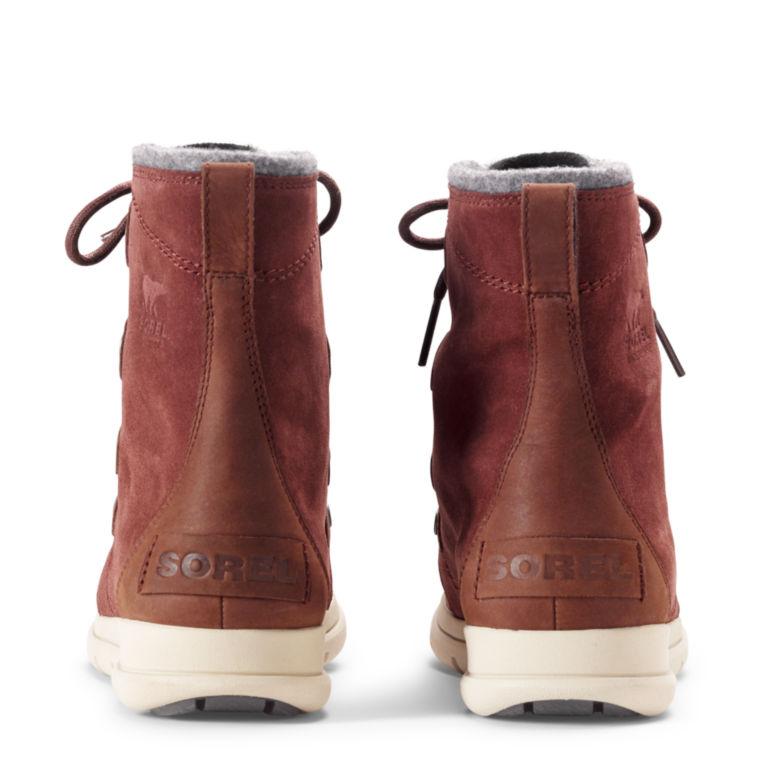 Sorel®  Explorer Joan Felt Waterproof Boots - REDWOOD image number 1