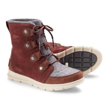 Sorel®  Explorer Joan Felt Waterproof Boots - REDWOOD image number 0