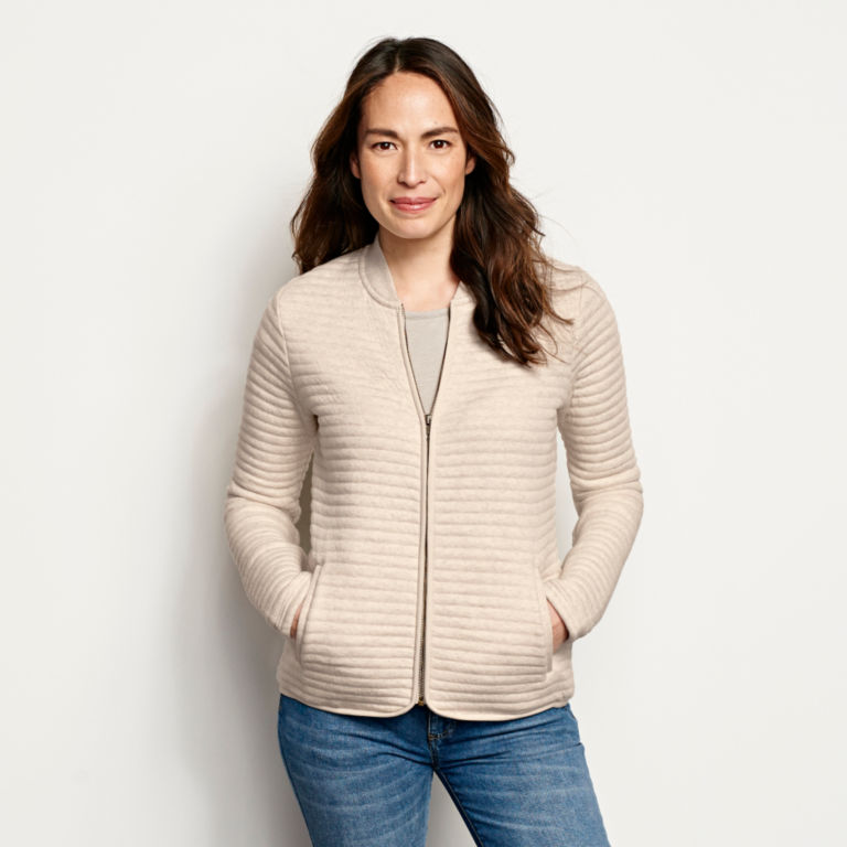 Quilted Bomber Sweatshirt -  image number 0