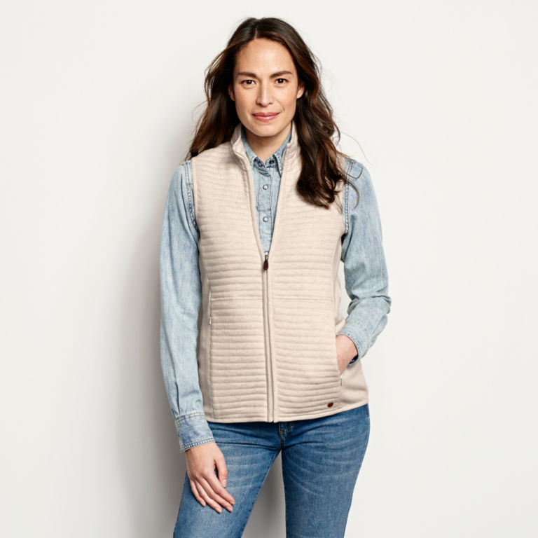 Placed Quilted Vest -  image number 0