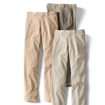 Poplin Expandable Comfort-Waist Pants - Plain Front -  image number 4