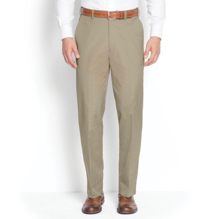 Poplin Expandable Comfort-Waist Pants - Plain Front -  image number 1