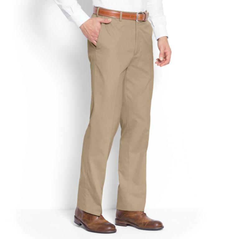 Poplin Expandable Comfort-Waist Pants - Plain Front -  image number 2