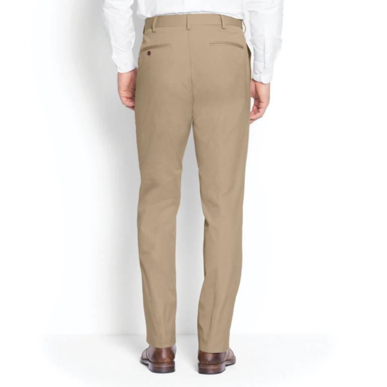 Poplin Expandable Comfort-Waist Pants - Plain Front -  image number 3