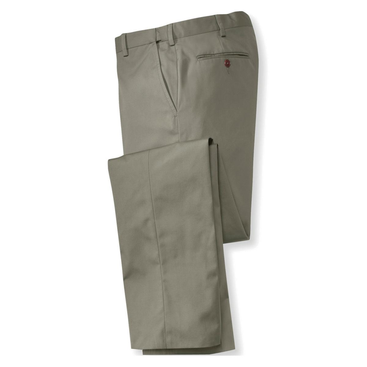 Poplin Expandable Comfort-Waist Pants - Plain Front - image number 0