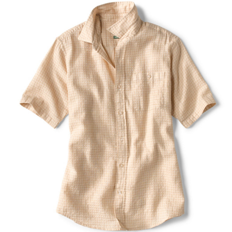 Mini Check Jacquard Short-Sleeved Shirt -  image number 0